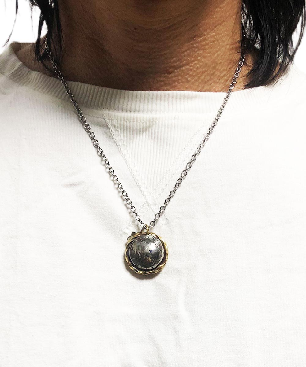 USA 5¢BUFFALO&INDIAN CHIP INLAY NECKLACE(アメリカ5セント バッファロー&インディアン チップインレイ ネックレス)11