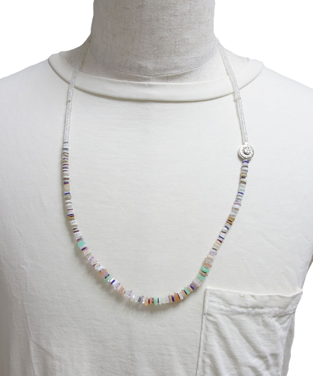 NATURALSTONE&MOON STONE  NECKLACE(ナチュラルストーン&ムーンストーンネックレス)