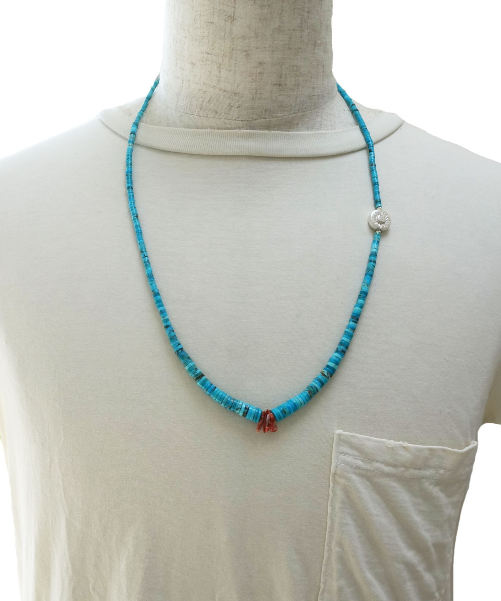 SLEEPING BEAUTY TURQUOISE(スリーピングビューティーターコイズ)&SPINY OYSTER  NECKLACE(スピニーオイスターネックレス)