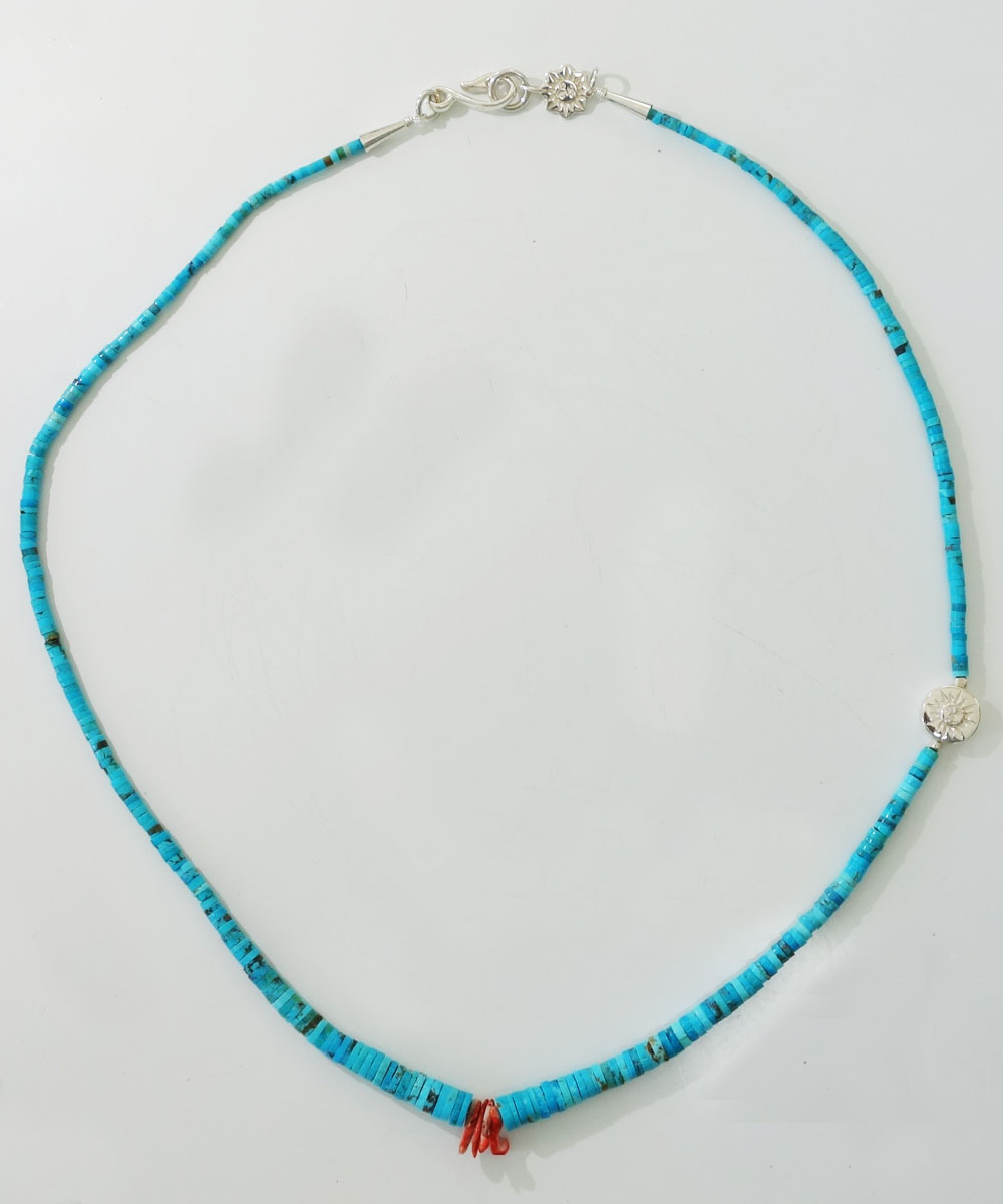SLEEPING BEAUTY TURQUOISE(スリーピングビューティーターコイズ)&SPINY OYSTER  NECKLACE(スピニーオイスターネックレス) 2