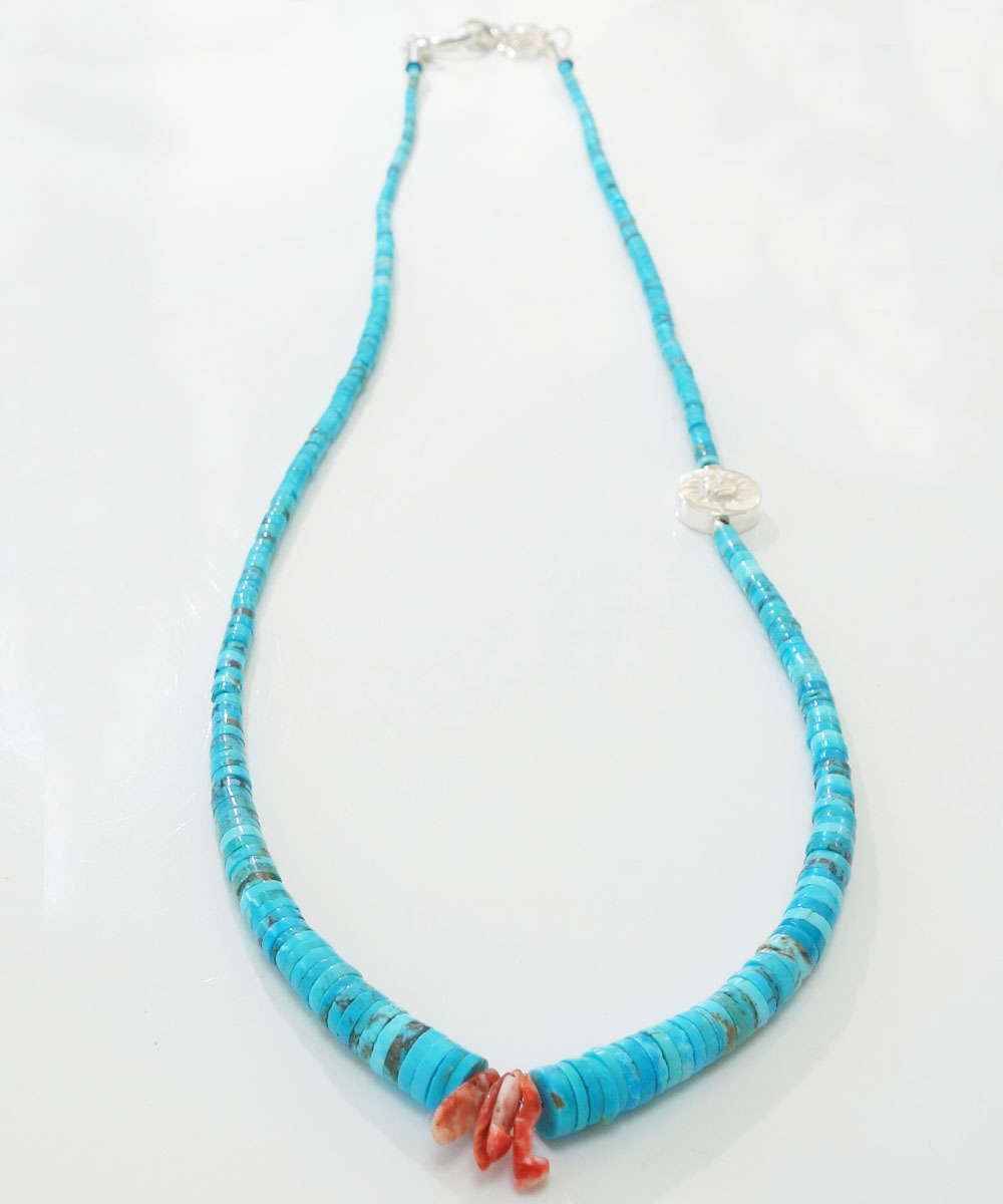SLEEPING BEAUTY TURQUOISE(スリーピングビューティーターコイズ)&SPINY OYSTER  NECKLACE(スピニーオイスターネックレス) 3