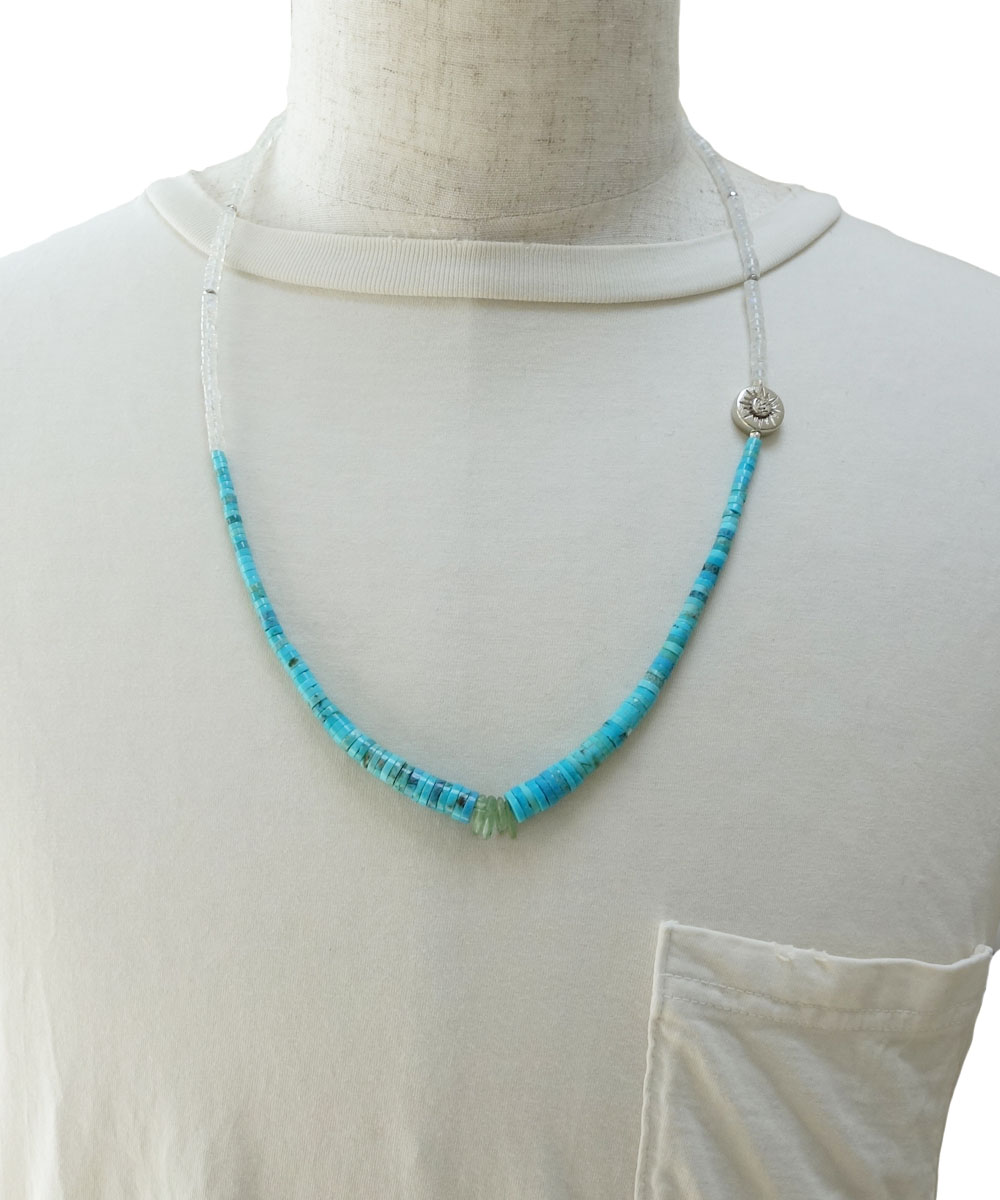 SLEEPING BEAUTY TURQUOISE(スリーピングビューティーターコイズ)&MOON STONE  NECKLACE(ムーンストーンネックレス)