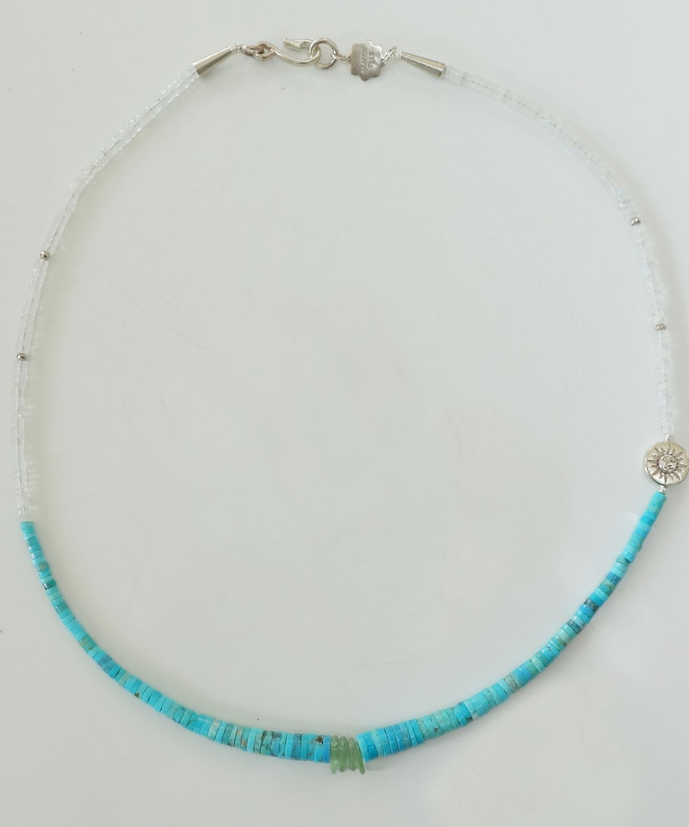 SLEEPING BEAUTY TURQUOISE(スリーピングビューティーターコイズ)&MOON STONE  NECKLACE(ムーンストーンネックレス) 2