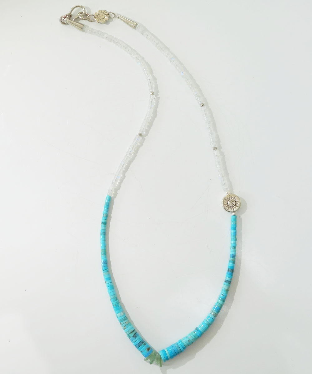 SLEEPING BEAUTY TURQUOISE(スリーピングビューティーターコイズ)&MOON STONE  NECKLACE(ムーンストーンネックレス) 6