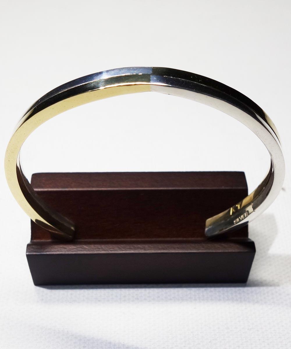 SILVER1000&BRASS DOUBLE BRACELET (純銀&真鍮ブレスレット)
