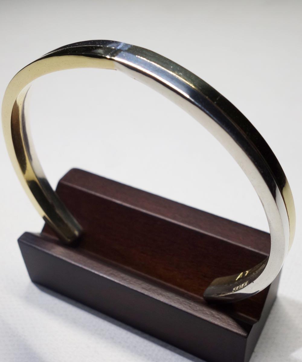 SILVER1000&BRASS DOUBLE BRACELET (純銀&真鍮ブレスレット) 3