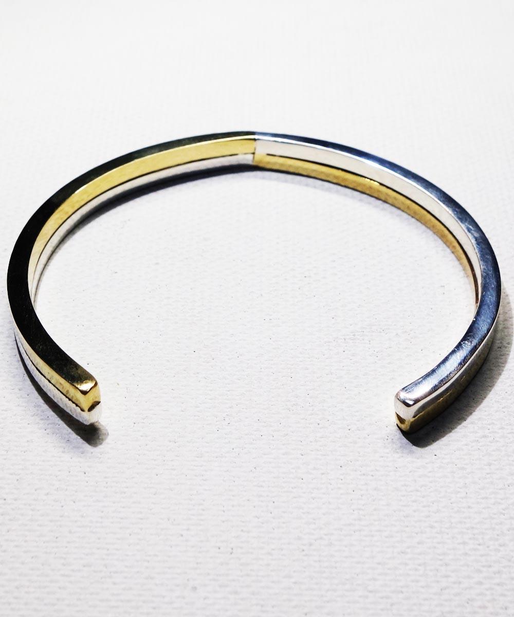 SILVER1000&BRASS DOUBLE BRACELET (純銀&真鍮ブレスレット) 4