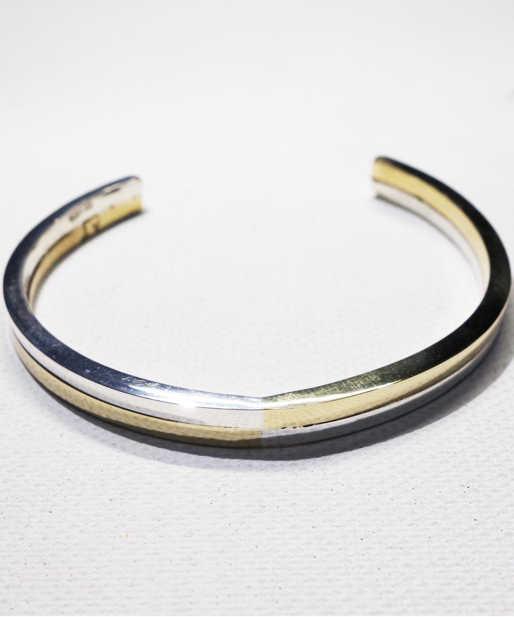 SILVER1000&BRASS DOUBLE BRACELET (純銀&真鍮ブレスレット) 5