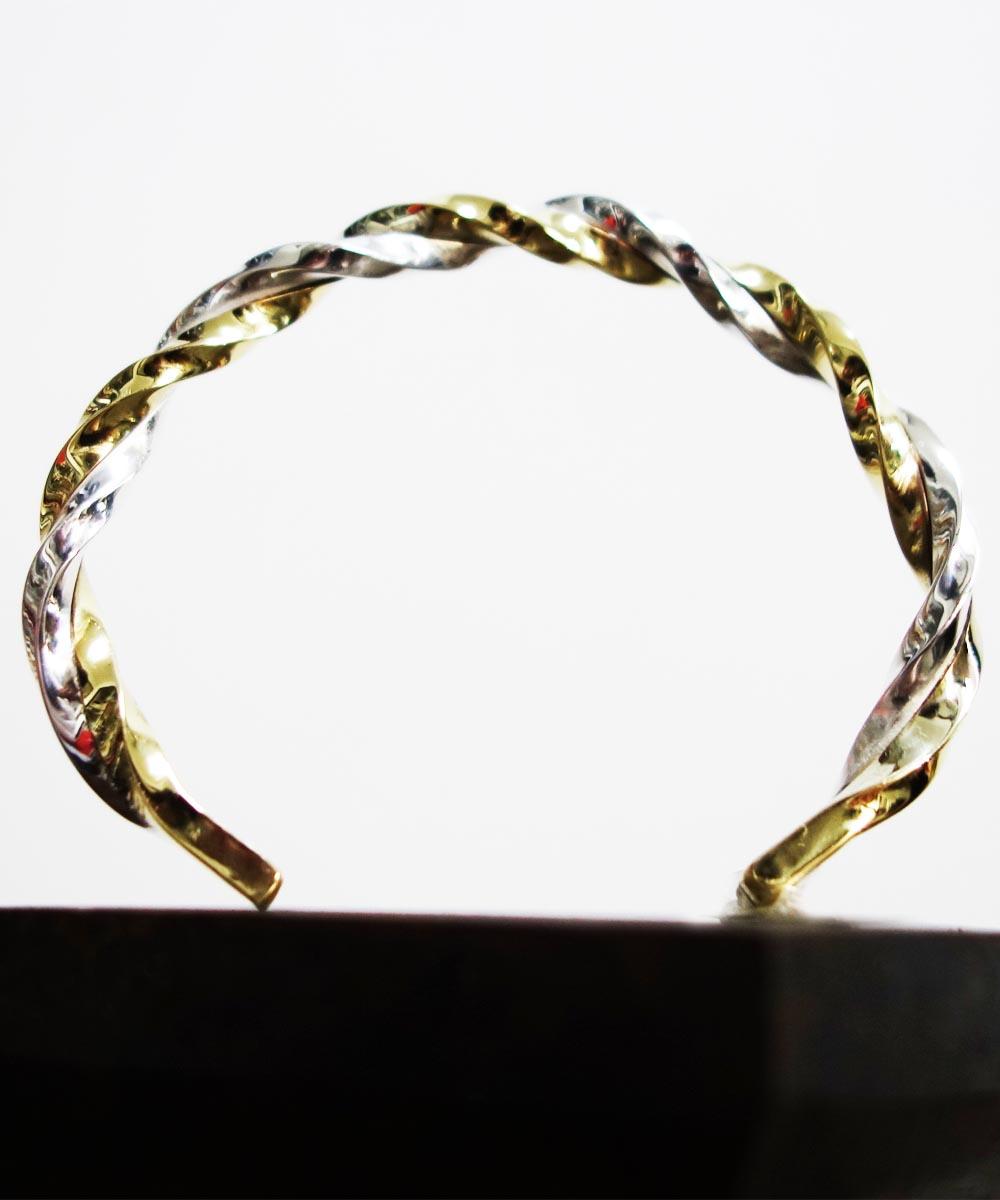 SV1000&BRASS TWIST BRACELET(純銀&真鍮ツイストブレスレット)4