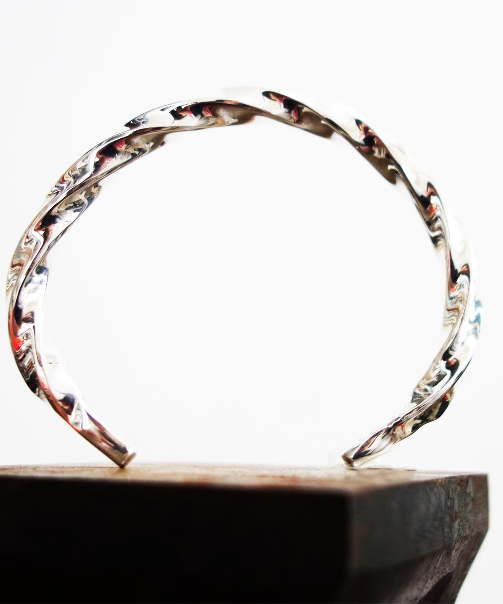 SILVER1000 TWIST BRACELET (純銀製ツイストブレスレット)3