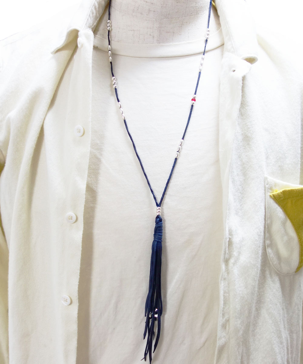DEERSKIN & STERLINGSILVER BEADS NECKLACE (ディアスキン&スターリングシルバービーズ ネックレス)