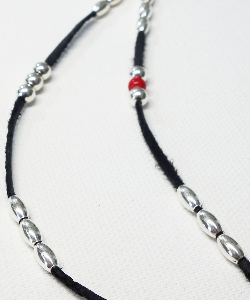 DEERSKIN & STERLINGSILVER BEADS NECKLACE (ディアスキン&スターリングシルバービーズ ネックレス)10