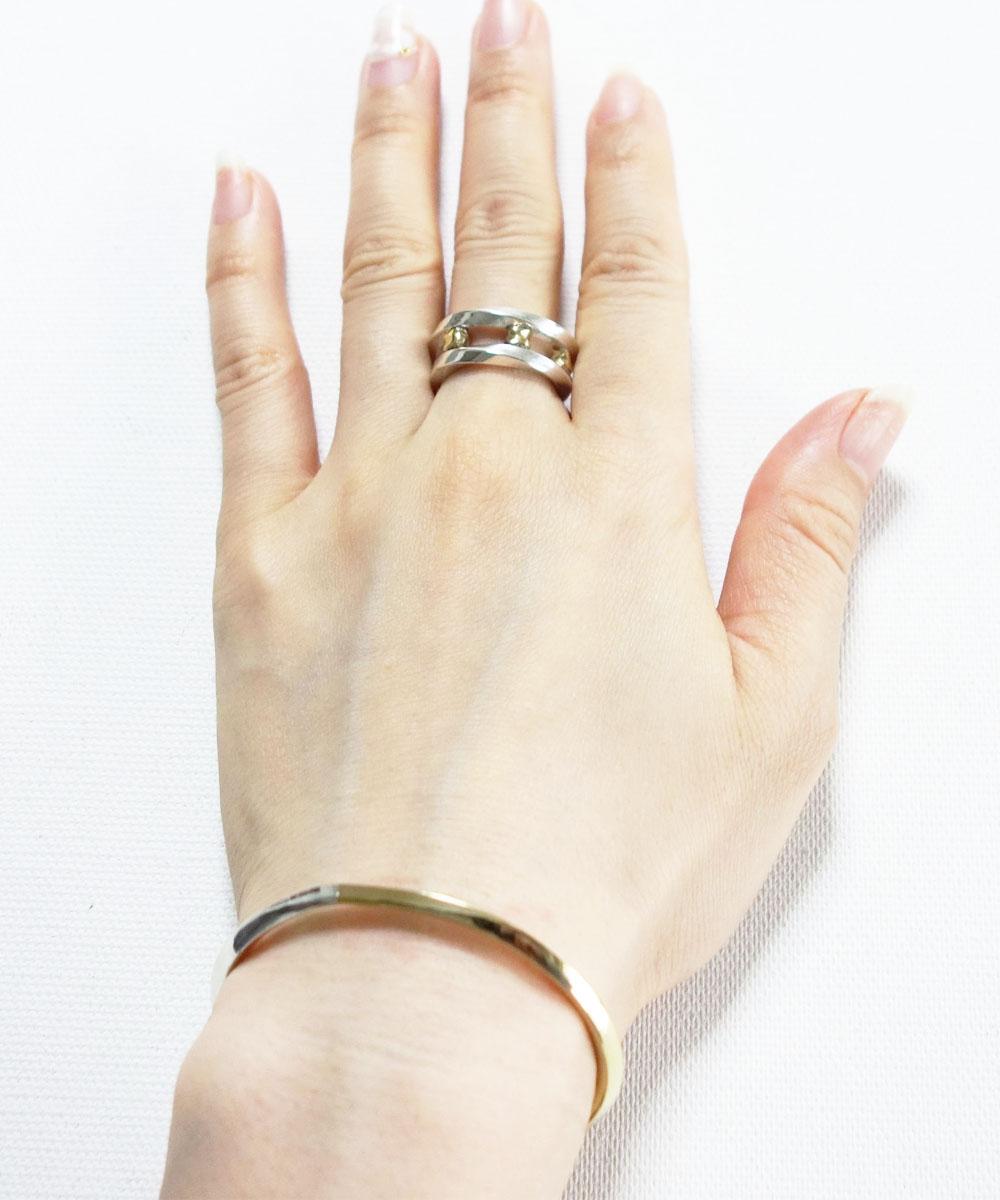 SILVER&GOLD TWIST RING (シルバー&ゴールドツイストリング)2