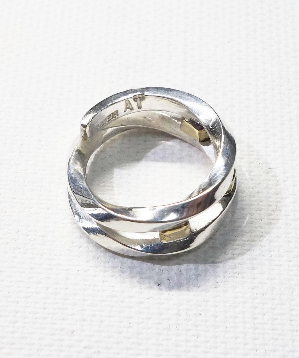 SILVER&GOLD TWIST RING (シルバー&ゴールドツイストリング)6