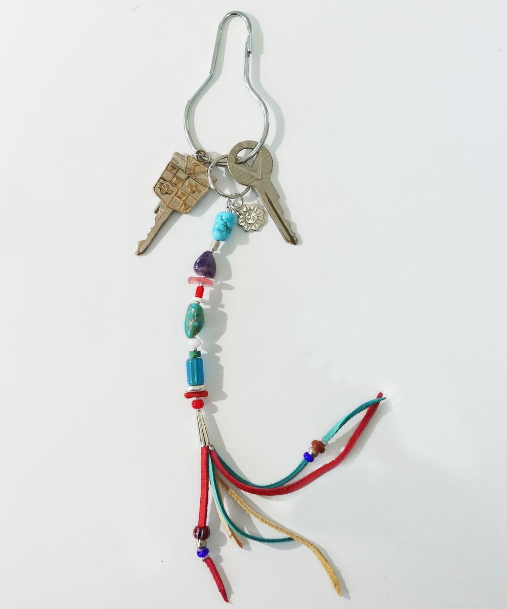 MALTI COLOR KEY RING(マルチカラーキーリング カラー:ターコイズ) 4