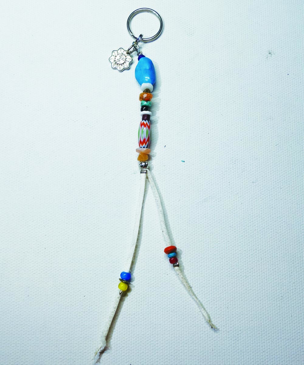 MULTI COLOR KEY RING Top-Natural Stone(TURQUOISE) (マルチカラーキーリング)