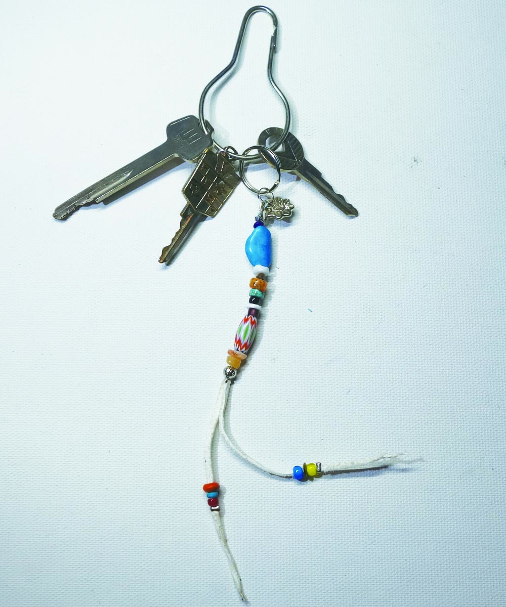 MULTI COLOR KEY RING Top-Natural Stone(TURQUOISE) (マルチカラーキーリング)5