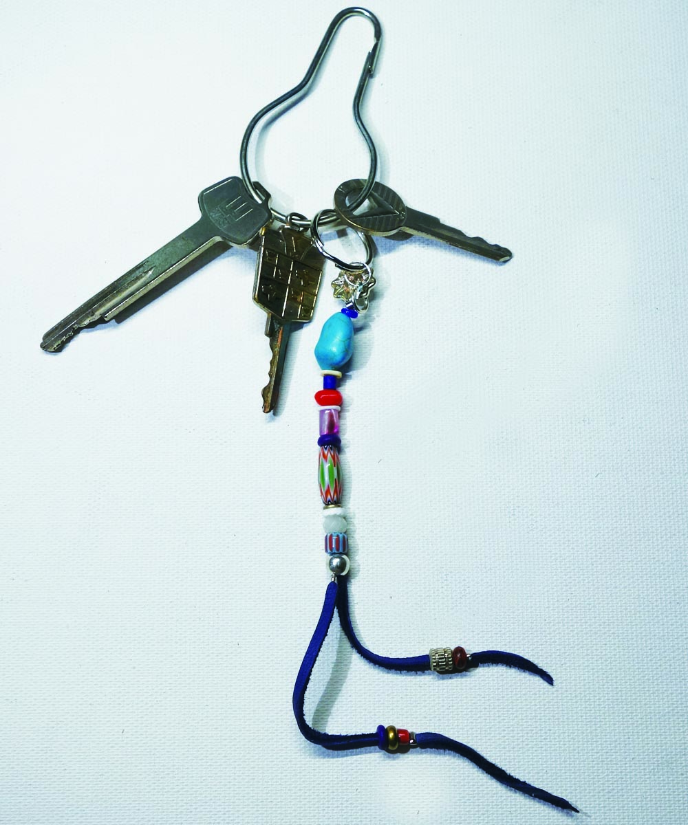 MULTI COLOR KEY RING(マルチカラーキーリング)Top-Natural Stone(TURQUOISE)5