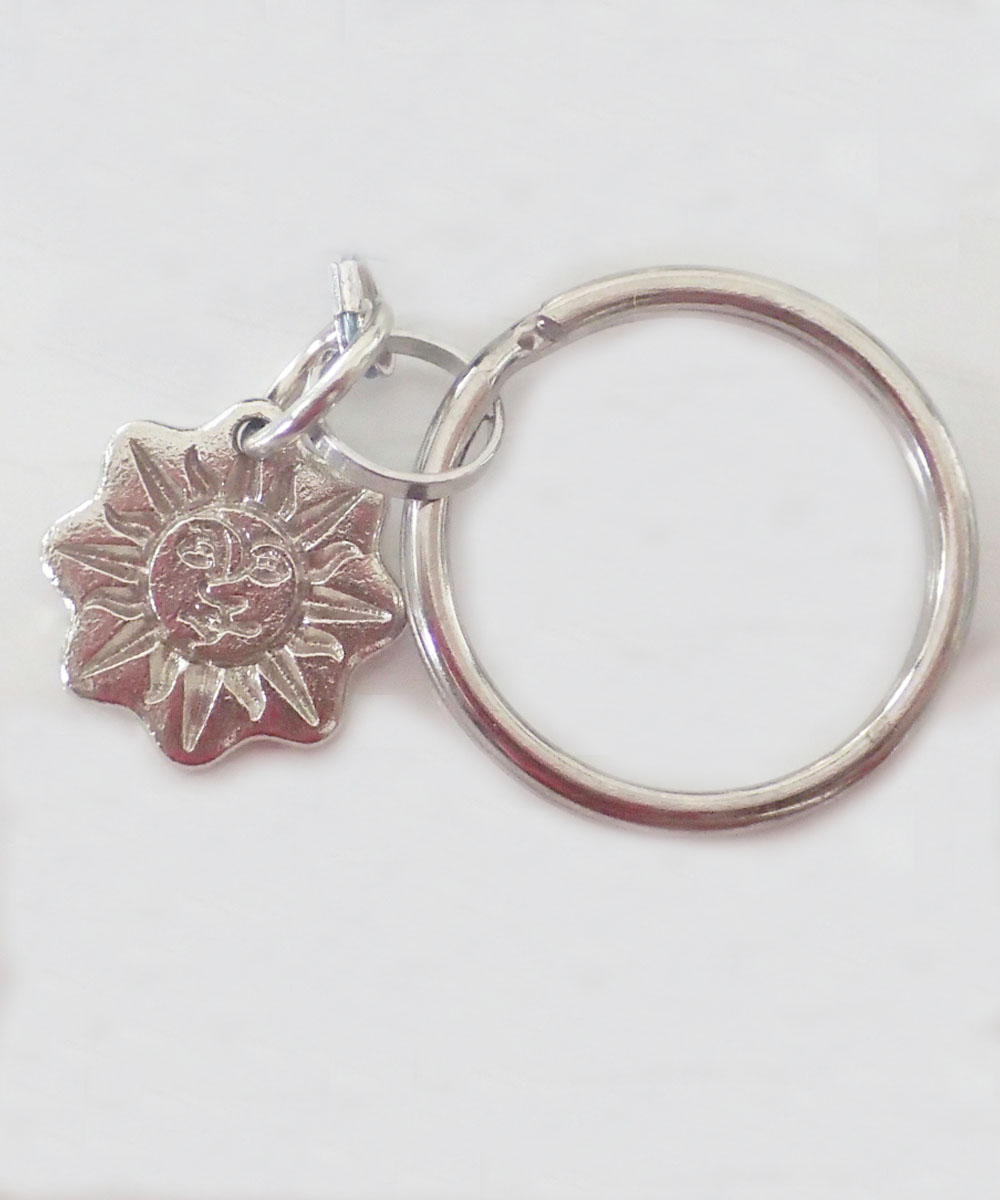 MULTI COLOR KEY RING(マルチカラーキーリング)Top-Natural Stone(TURQUOISE)6