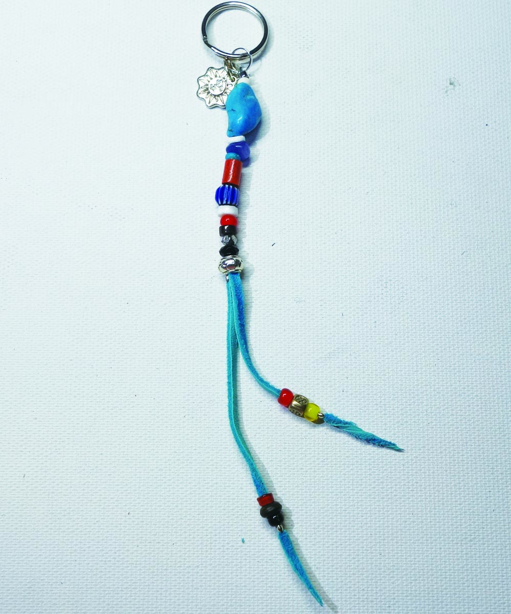 MULTI COLOR KEY RING(マルチカラーキーリング) Top-Natural Stone(TURQUOISE)
