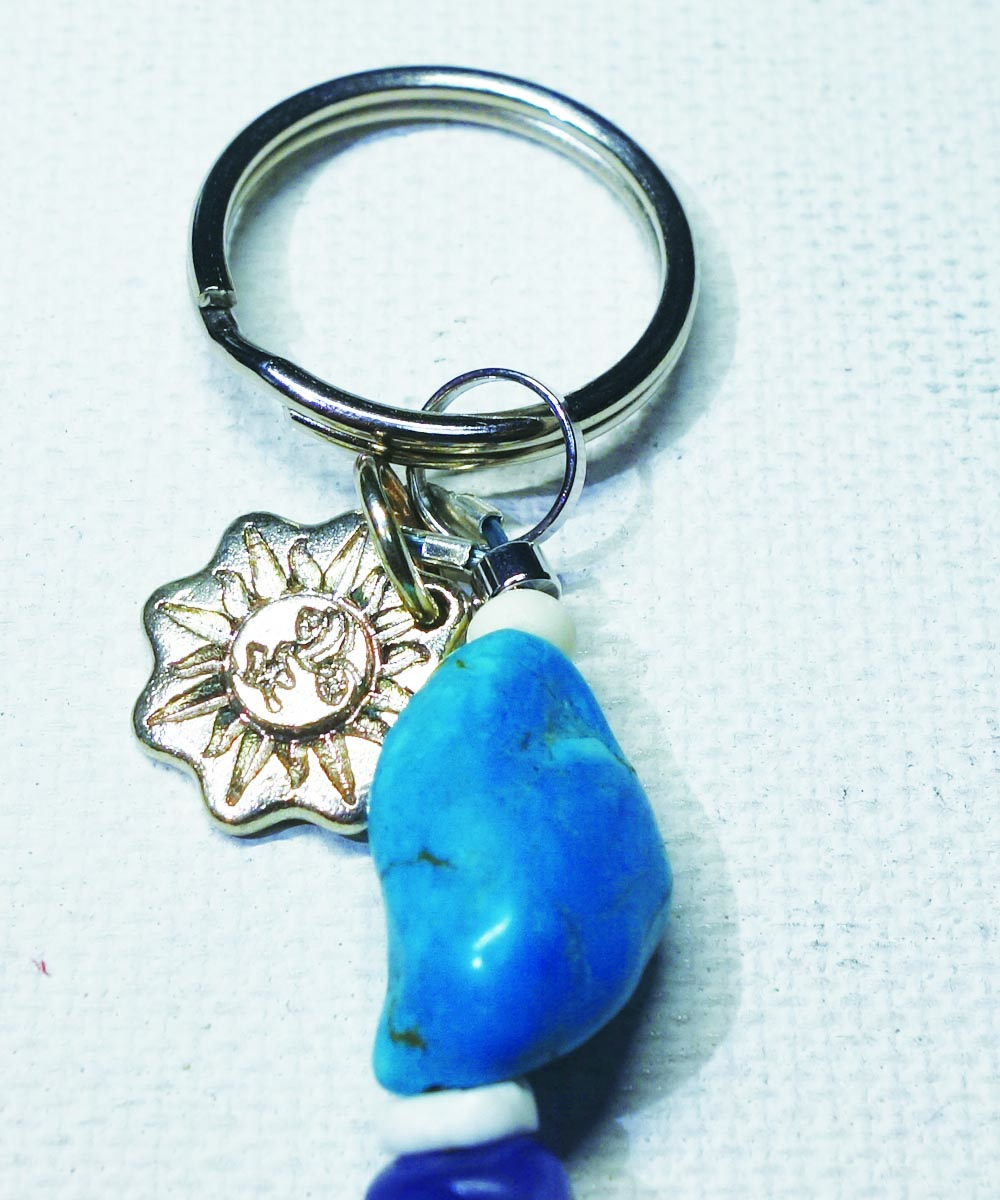 MULTI COLOR KEY RING(マルチカラーキーリング) Top-Natural Stone(TURQUOISE)2