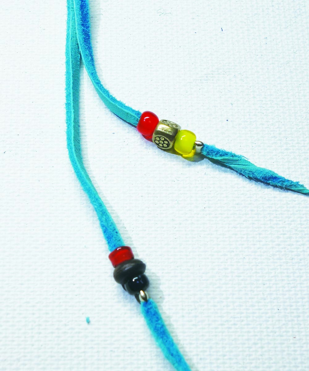 MULTI COLOR KEY RING(マルチカラーキーリング) Top-Natural Stone(TURQUOISE)4