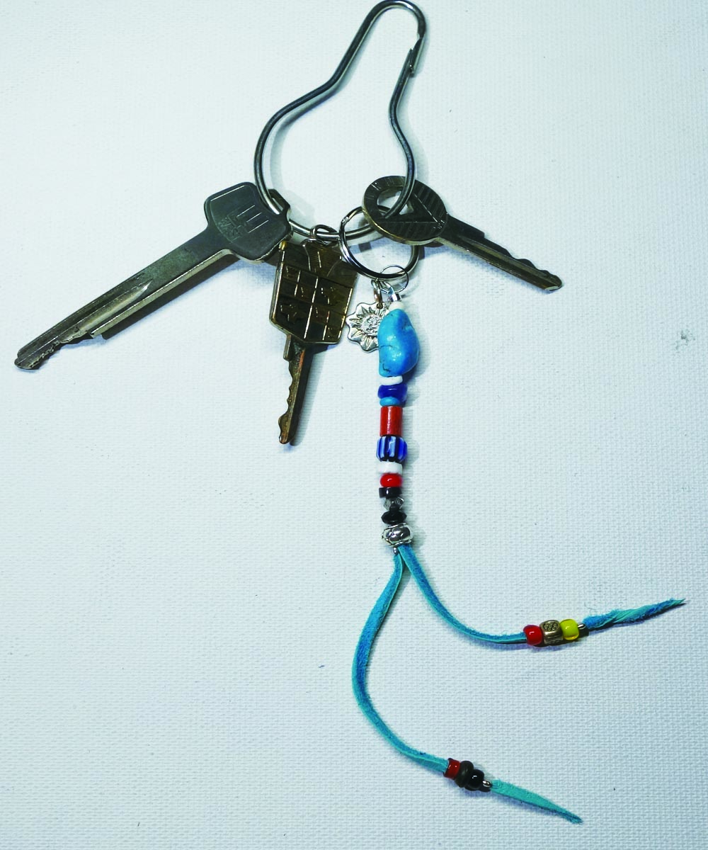 MULTI COLOR KEY RING(マルチカラーキーリング) Top-Natural Stone(TURQUOISE)5