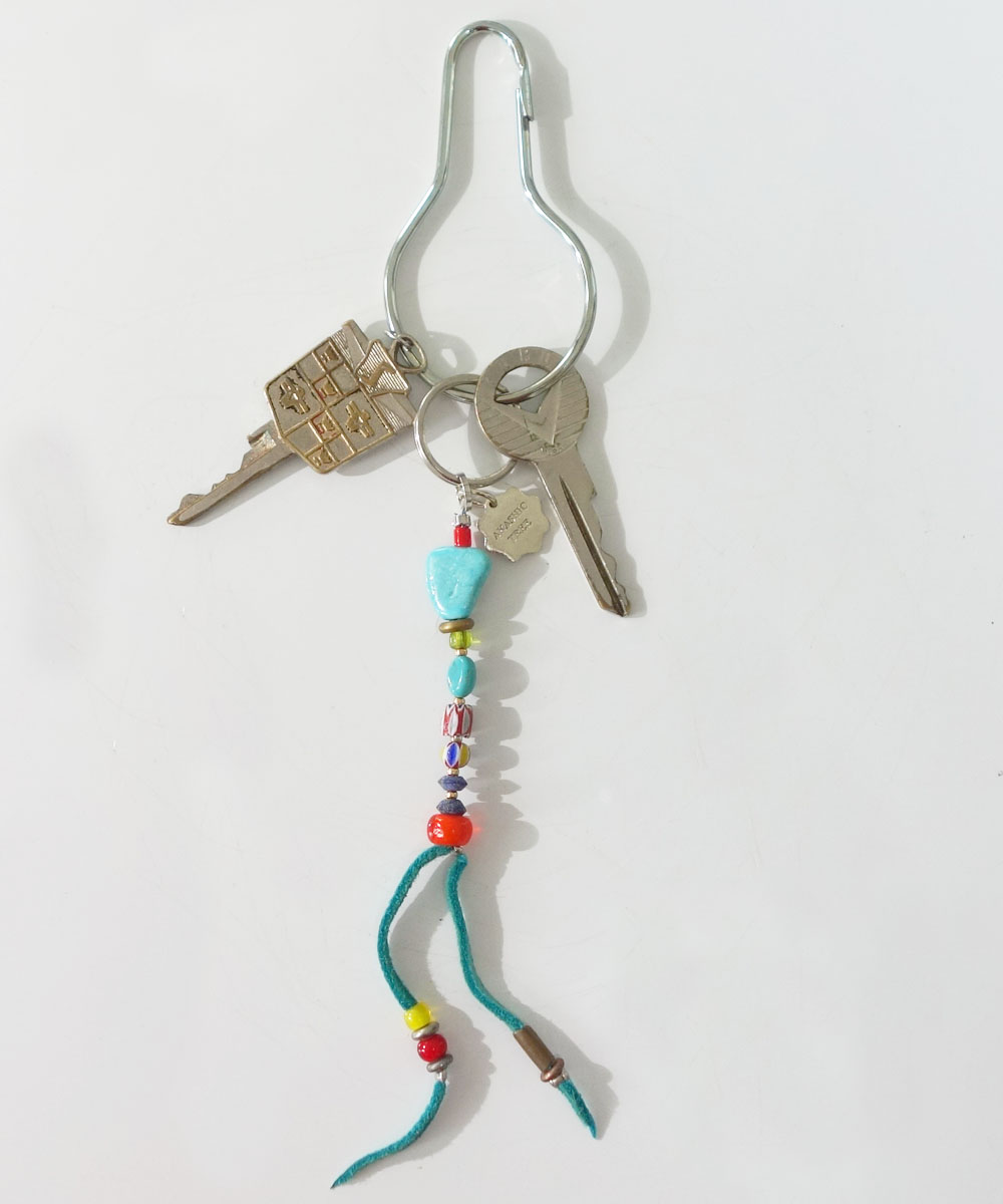 MALTI COLOR KEY RING(マルチカラーキーリング) Top-Natural Stone (TURQUOISE)3