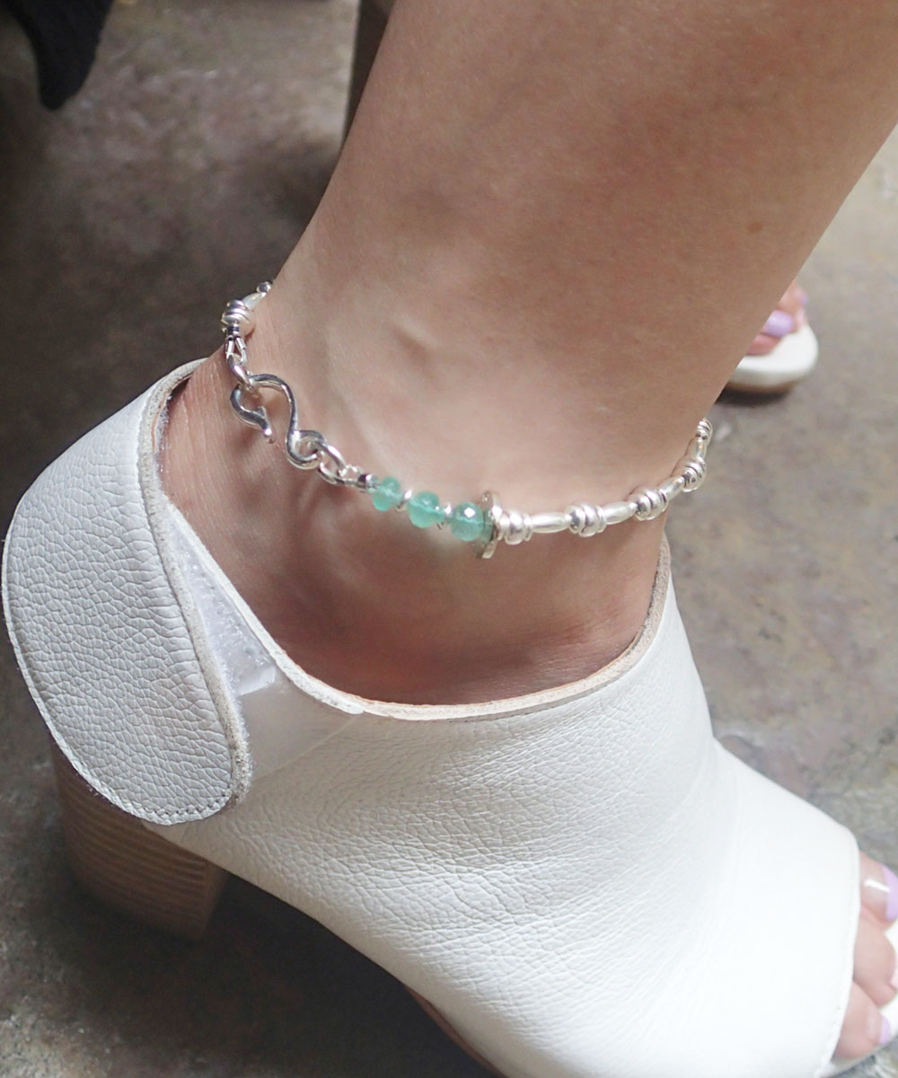 STERLING SILVER WIRE ANKLET(スターリングシルバーワイヤーアンクレット)6