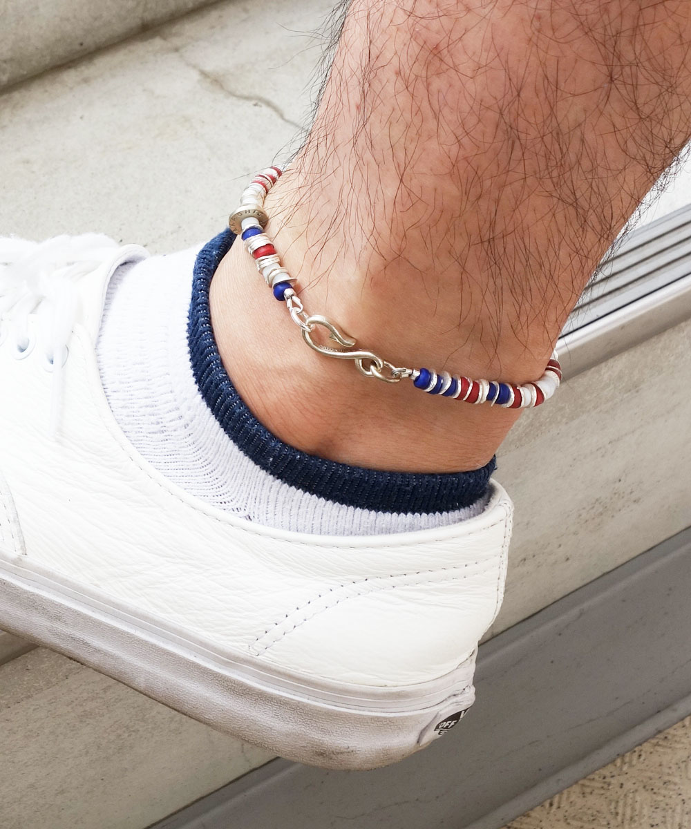 AFRICAN BEADS WIRE ANKLET(アフリカンビーズワイヤーアンクレット)6