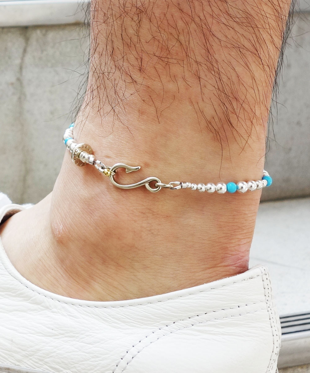 STERLING SILVER & TURQUOISE  WIRE ANKLET(スターリングシルバー&ターコイズワイヤーアンクレット)5