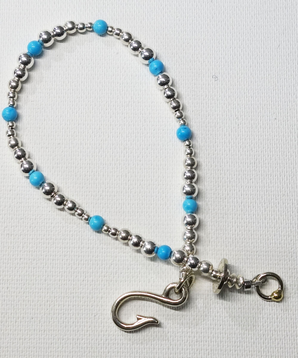 STERLING SILVER & TURQUOISE  WIRE ANKLET(スターリングシルバー&ターコイズワイヤーアンクレット)7