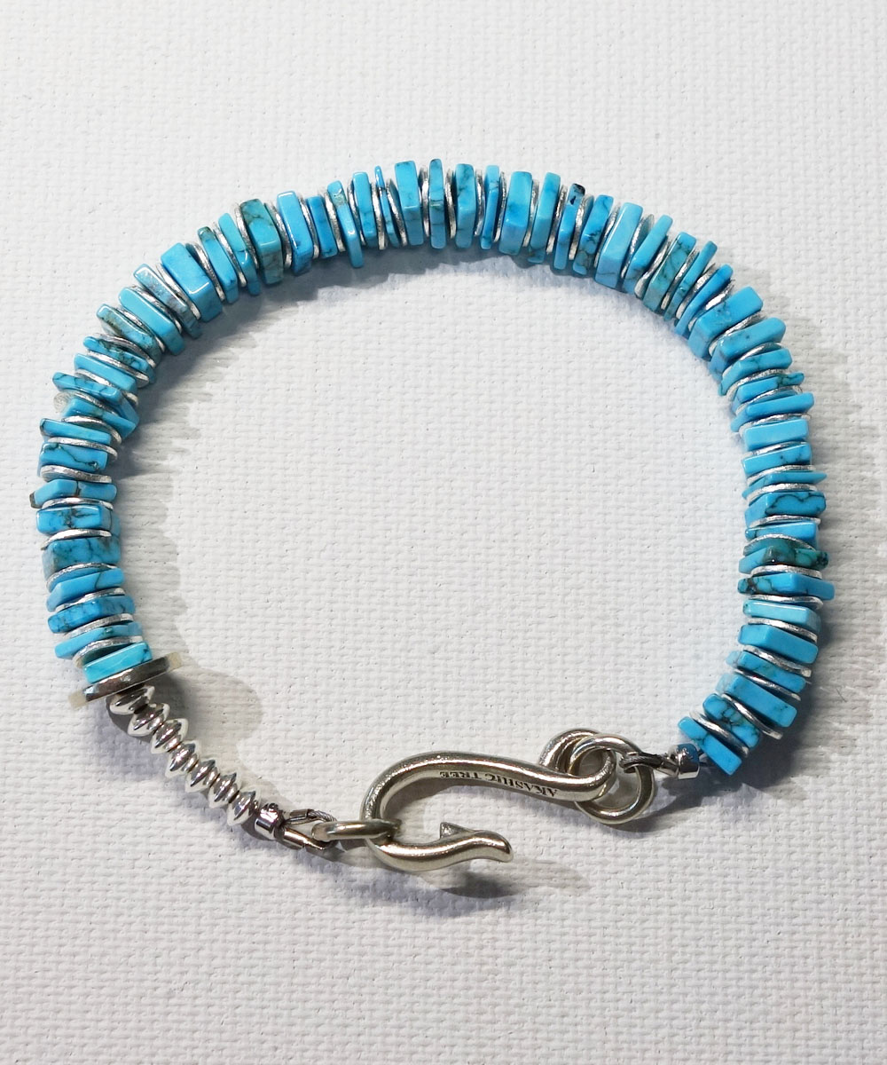 TURQUOISE SQUARE TYPE BRACELET(ターコイズ ブレスレット) COLOR-SAX