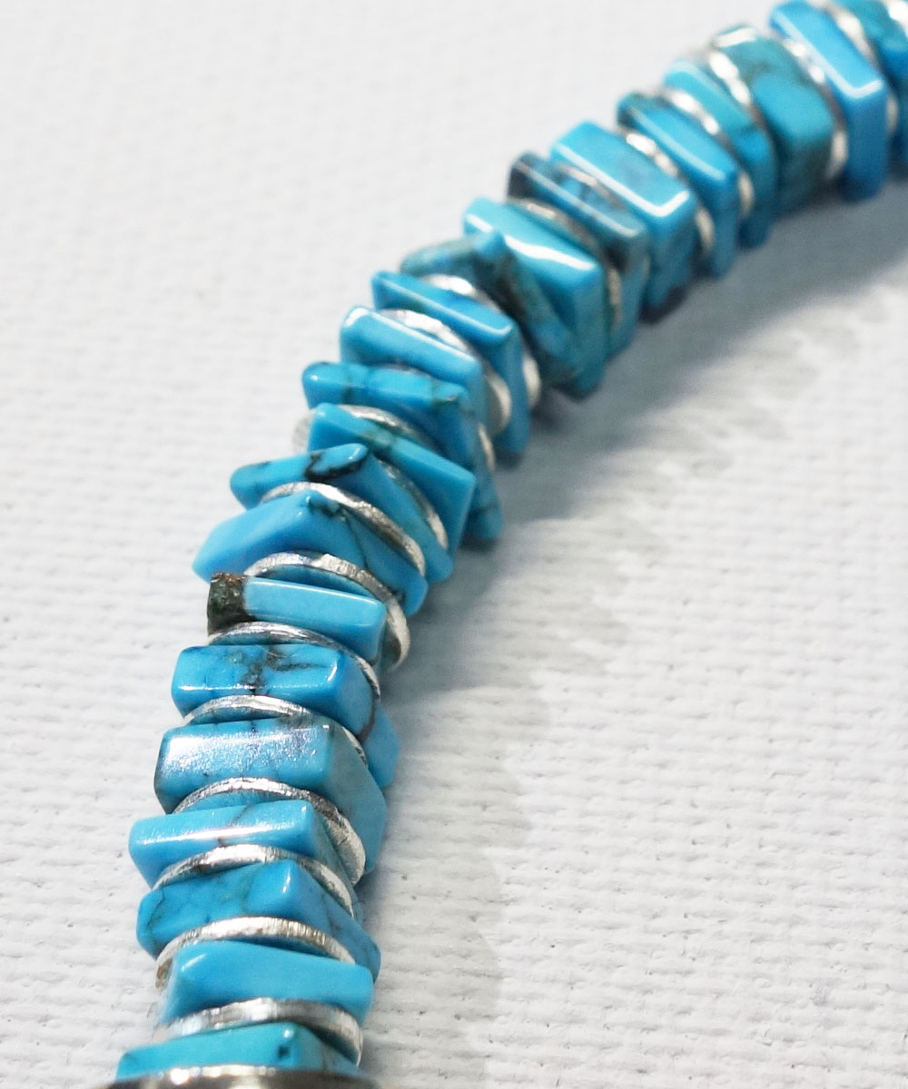 TURQUOISE SQUARE TYPE BRACELET(ターコイズ ブレスレット) COLOR-SAX4